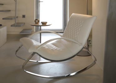 Chandelier Leather Rocking Chair _main_image