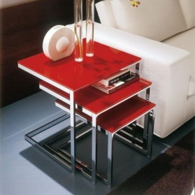 Vetro Modern Glass Nest of Tables_main_image