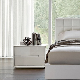 Oblique White High Gloss Bedside Cabinet_main_image