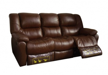 Freeland 3 Seat Leather Recliner