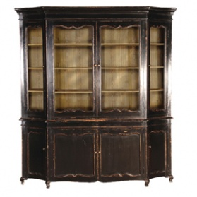 Belle Noir Large Glazed Bookcase_main_image