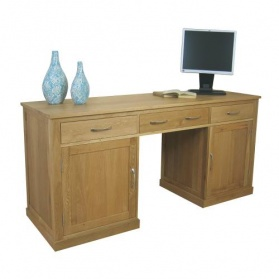 Mobel Twin Pedestal Computer Desk_main_image