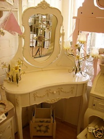 Bergere Kidney Shaped Dressing Table