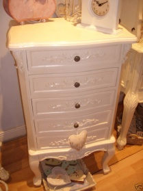 Bergere Cream Ornate Tallboy Chest_main_image