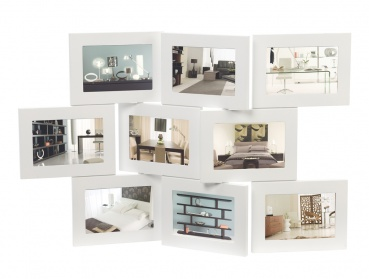 Nine aperture frame white