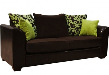 Clermont 3-Seater Leather Fabric Sofa