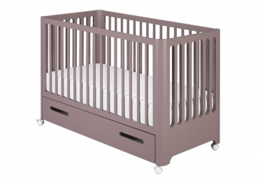 Cocoon Aubergine Cot and Storage Drawer_main_image