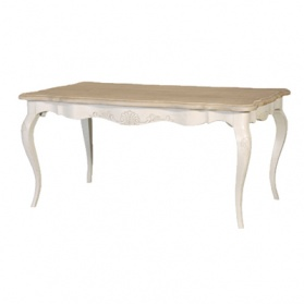 Chamonix Antique White Dining Table