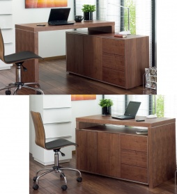Executive office desk walnut