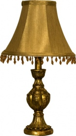 Beaded Gold Table Lamp
