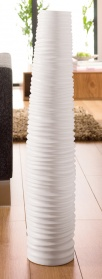 Ribbed vase white _main_image