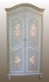 Blue Hand Painted Armoire Wardrobe