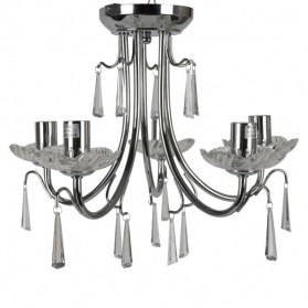 Crystal Scroll 5 Arm Ceiling Light Fitting