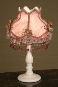 Pink Beaded Ribbon Table Lamp_main_image