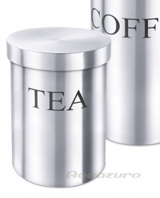 Tea canister - stainless steel - Zack Vivace