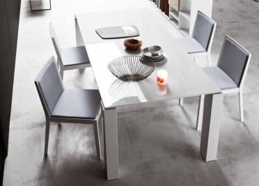 Block White Dining Table _main_image