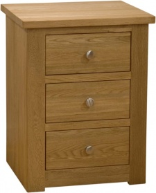 Wild Oak 3 Drawer Narrow Bedside_main_image