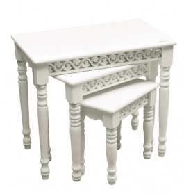 Bella White Nest Of Tables_main_image