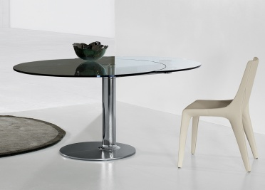 Bonaldo Plinto Round Extending Dining Table _main_image