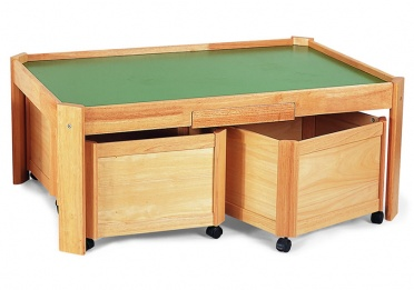 All Purpose Play Table with 4 Medium Storage Bins