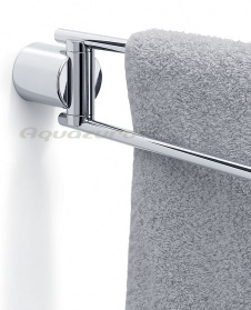 Duo polished swivelling towel rail