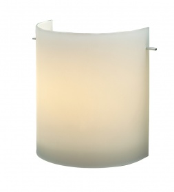 Curved square wall light