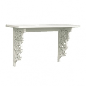 Bella White Carved Wall Shelf_main_image