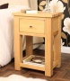 Severn Oak Lamp Bedside Table