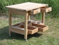 Teak Trolley & Table Extension_image2