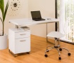 Reversible desk and drawers white