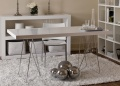 Metro White Dining Table