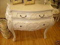 Bergere French Cream Bombe Chest Of Drawers