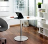 Droplet desk white