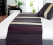 Aubergine stripe bed runner