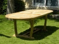 Oval Double Extending Teak Garden Table - Borneo