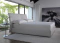 Chandelier Leather Bed