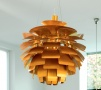 Leaf layered pendant light gold