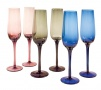 Tricolour champagne glasses