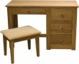 Wild Oak Dressing Table & Stool Set