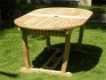 Oval Double Extending Teak Garden Table - Borneo_image1