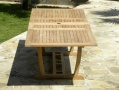 Rectangular Double Extending Teak Garden Table - B