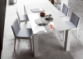 Block White Dining Table