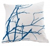Flock branch cushion blue